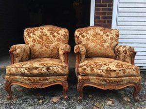 solid oak armchairs