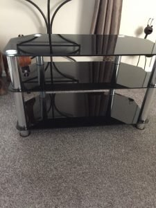 television stand.
